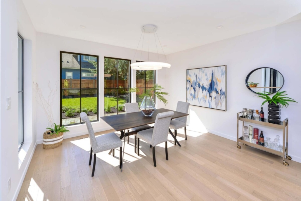 custom home builder dining area