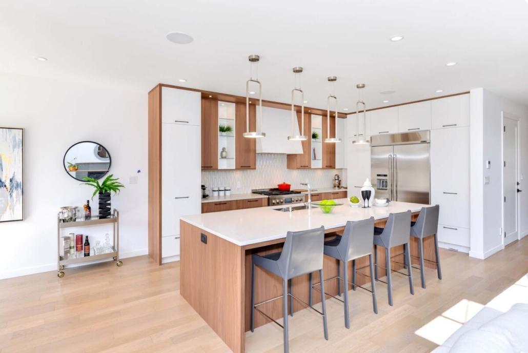 custom home builder modern kitchen