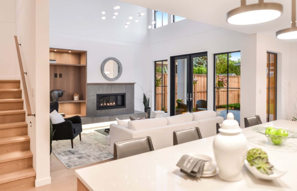 custom home builder livingroom